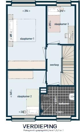 Eerste verdieping plattegrond