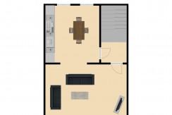 Plattegrond Bleijerheidestraat 122 en 122A verdieping 1