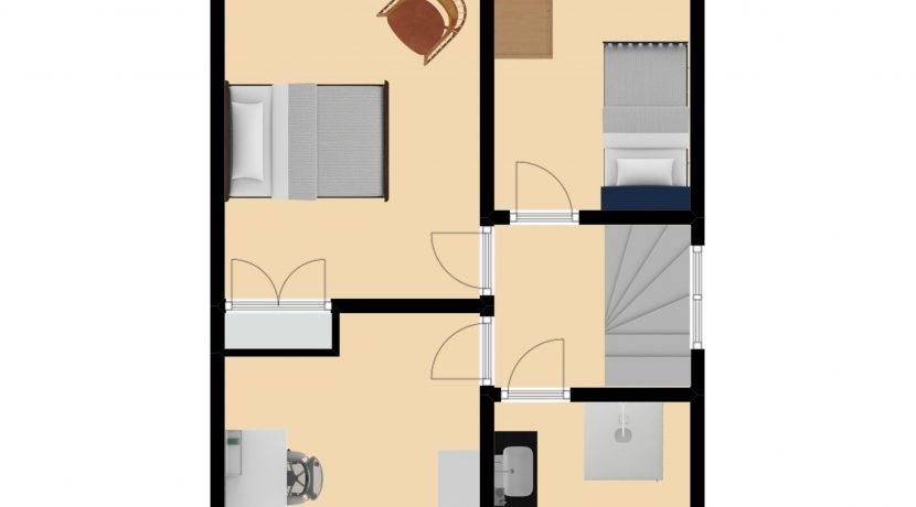 Plattegrond Grachterstraat 22 Kerkrade Verdieping