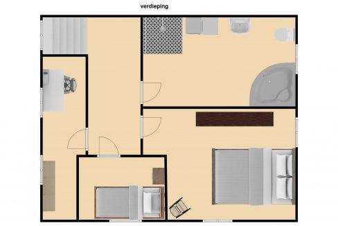 Plattegrond Drievogelstraat 151 A Kerkrade, verdieping 1