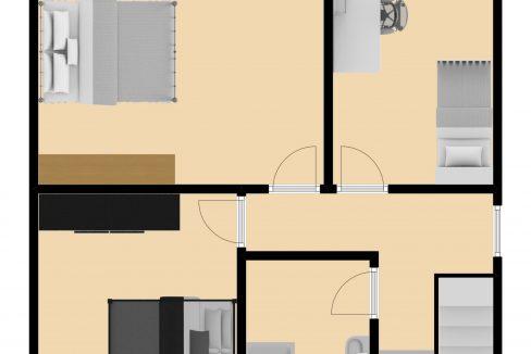 Plattegrond Drievogelstraat 151 A Kerkrade, verdieping