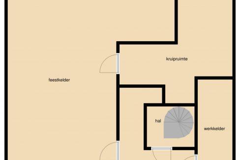 Plattergrond Reeweg 96 Landgraaf Souterrain