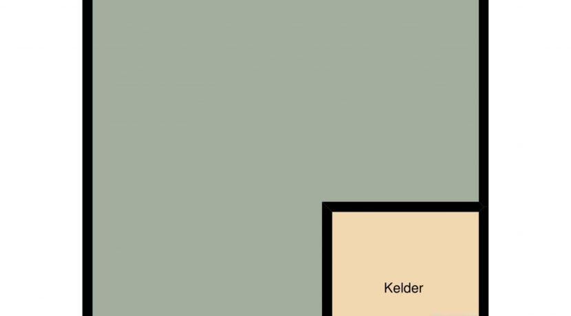 plattegrond souterrain Groot-Nullandstraat 58 Kerkrade