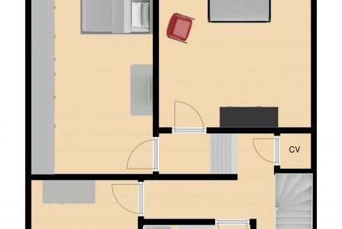 plattegrond verdieping Groot-Nullandstraat 58 Kerkrade