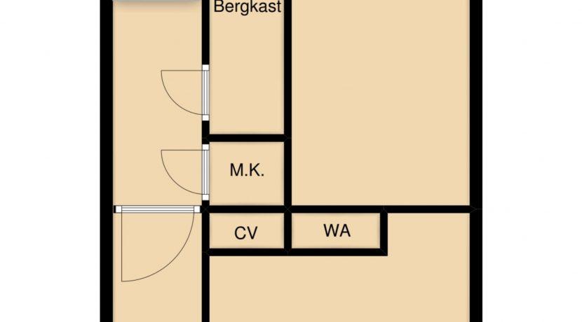 Plattegrond begane grond Caumerboord 39A Heerlen_23