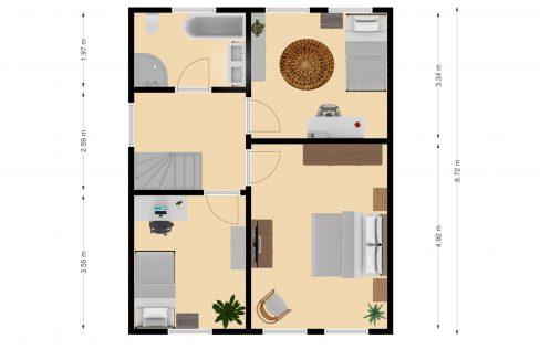 Plattegrond Kaalheidersteenweg 99 Kerkrade_Verdieping