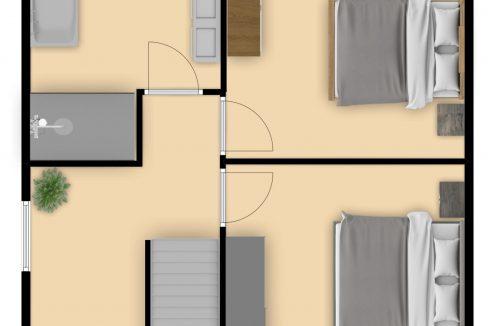 3 Rolduckerstraat 40 Kerkrade_plattegrond verdieping 1