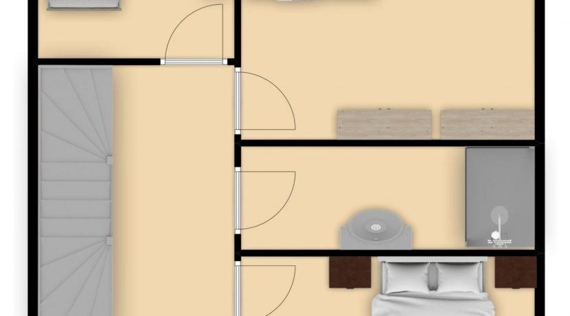 Plattegrond Chaineuxstraat 4 Kerkrade_Verdieping 1